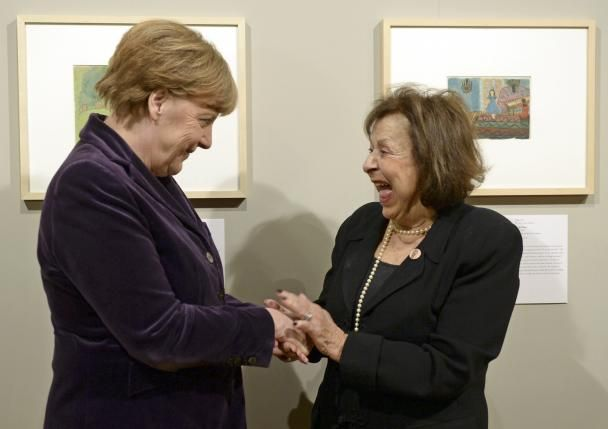 Merkel opens exhibition of Holocaust art in Berlin