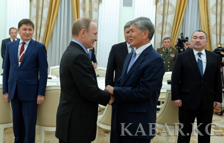 Atambaev and Putin discuss prospects for further cooperation in various fields and development of Eurasian integration - PHOTOS