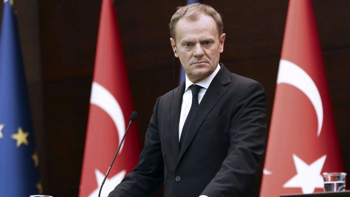 EU president in migrant talks with Turkey's Erdogan