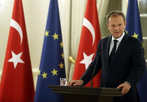 'Hard work' needed to patch up Turkish refugee proposal, EU's Tusk says