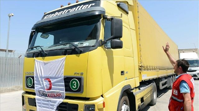Turkey sends humanitarian aid to Syria