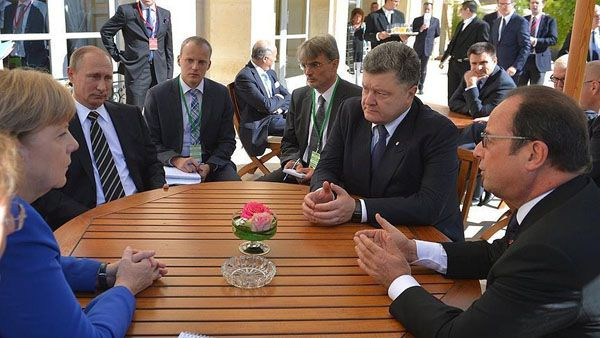 Germany, France, Russia meet over E.Ukraine conflict
