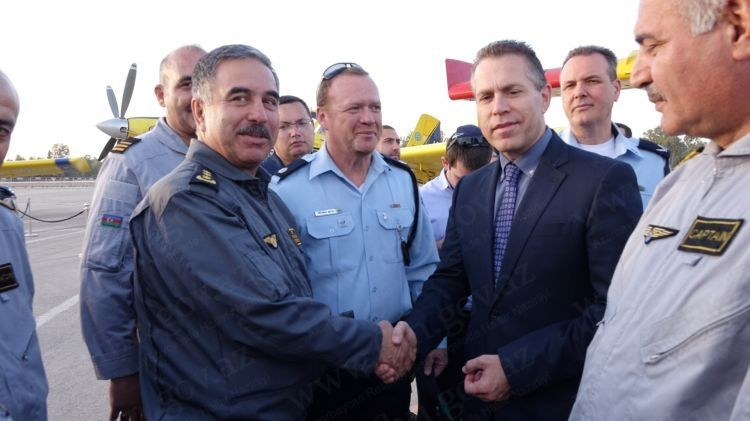 Israel awards Azerbaijani fire-fighting team for helping tackle wildfires    PrevNext +6 Zoom
