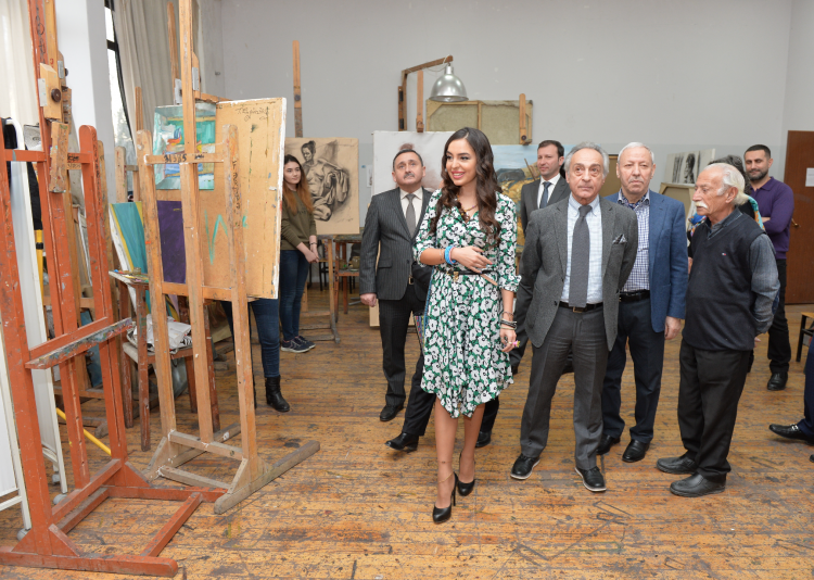 Leyla Aliyeva visits Academy of Art, National Oncology Center