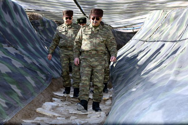 Defense Minister visited military units on frontline - PHOTOS