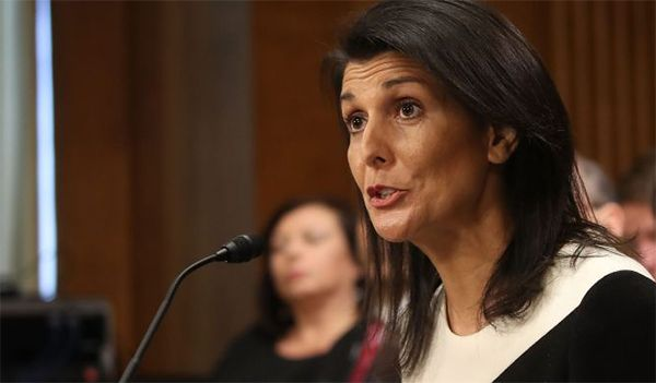 US Senate confirms Nikki Haley as UN envoy