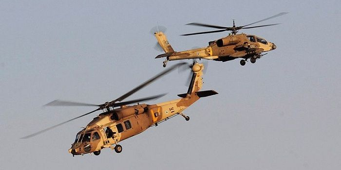 Israeli Air Force helicopter attacks Syrian Army facility in Golan Heights