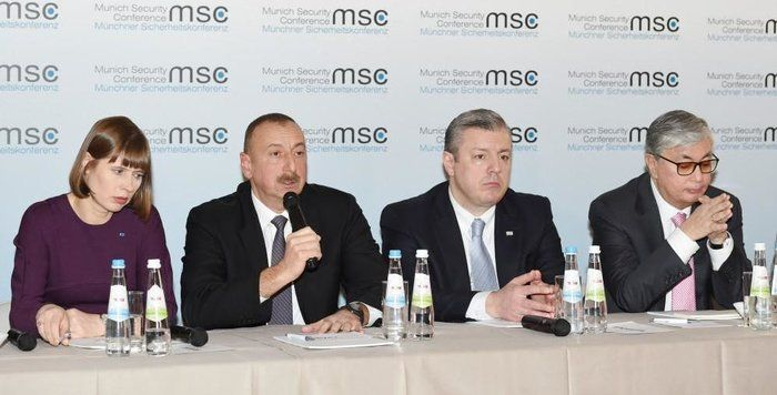 President Aliyev and his spouse attended panel discussion at Munich Security Conference