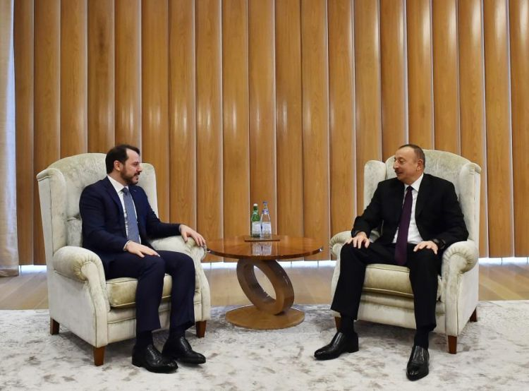 President Ilham Aliyev receives Turkey's energy minister