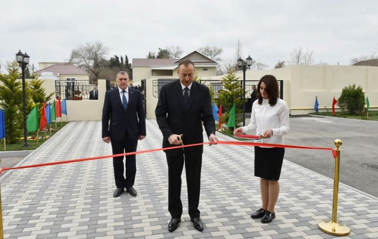 President Aliyev attends opening of orphanage-kindergarten in Saatli