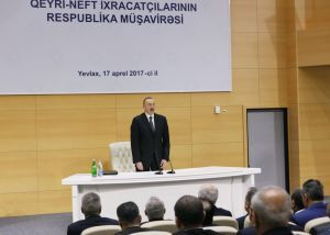 Ilham Aliyev chairs republican conference of non-oil exporters
