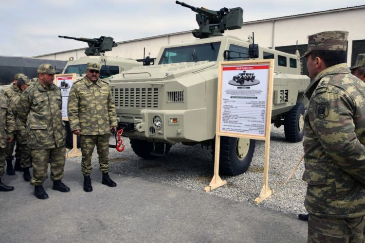Weapons to be used during Azerbaijan-Turkey drills showcased
