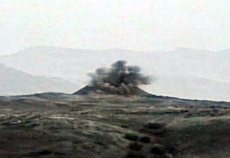 Azerbaijani army destroys Armenian command-and-observation post - VIDEO