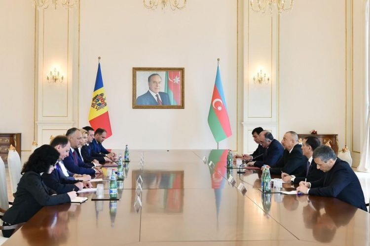 President: Azerbaijan, Moldova have common approaches to current events