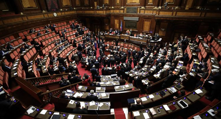 A view of the Italian Senate, in Rome (File)Italian Right Scores Huge Election Victory, Plans to Scrap 'Idiotic Sanctions'