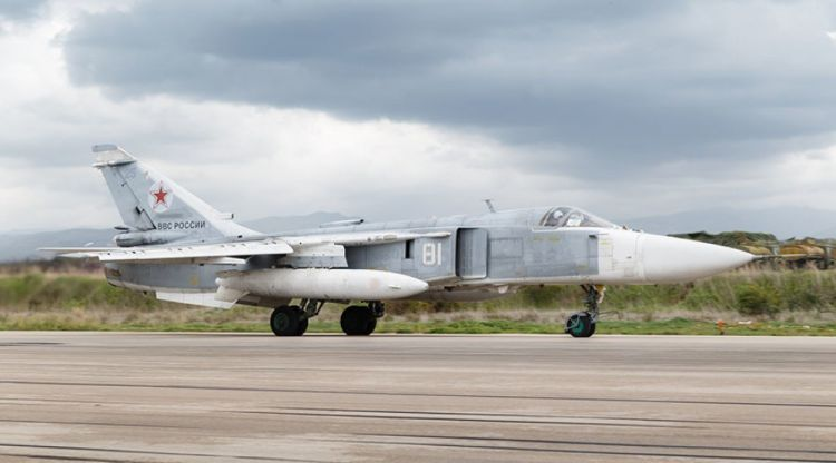 Russian Su-24 jet skids off runway in Syria, crew killed
