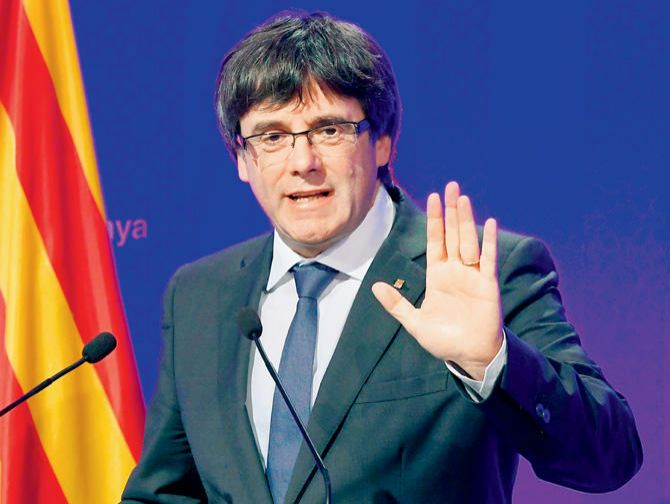 Catalan leader cancels key press conference