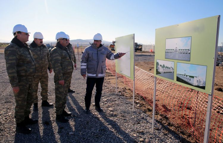 Minister of Defense inspected a number of military facilities being under construction in the frontline zone