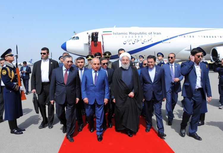 Iranian President Hassan Rouhani embarks on official Azerbaijan visit