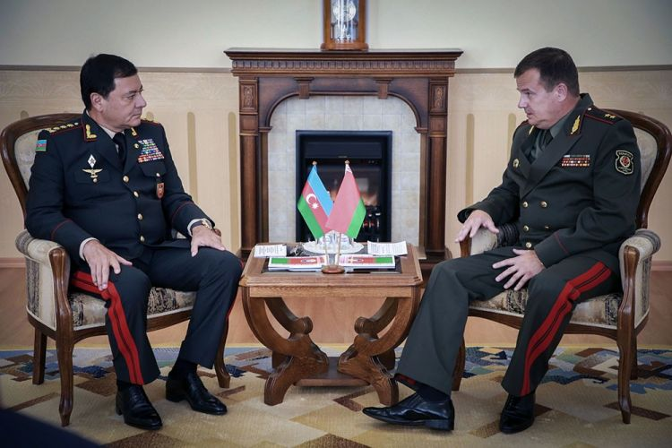 Chief of General Staff of Azerbaijani Armed Forces meets with Belarus defense minister
