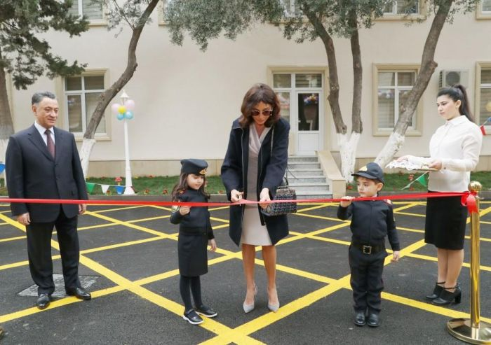 First VP Mehriban Aliyeva attends opening of kindergarten in Baku